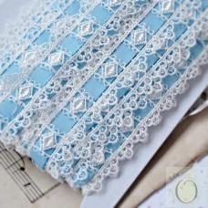 Blue Guipure Lace