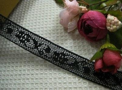 Black Hollow Cotton lace