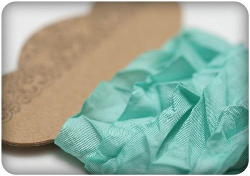 Shabby Ribbon Aquamarine - 10mm