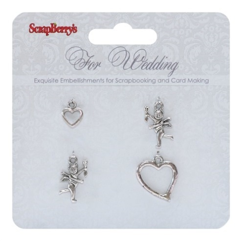 For Wedding  Charms - 4 pcs