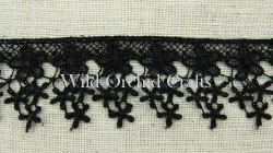 Black Star Flower Lace