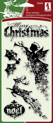 Inkadinkado Clear Stamp Set - Christmas Silhouettes