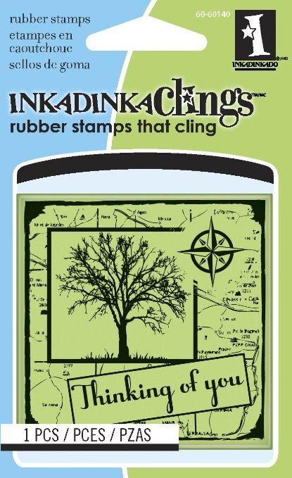 Inkadinkado Mini Cling Stamp - Thinking of You