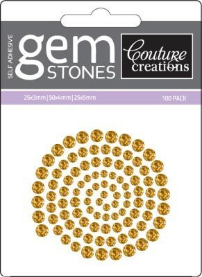 Vintage Gold - Self Adhesive Gemstones x 100