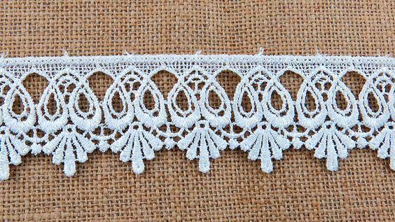 Off White Scroll Lace