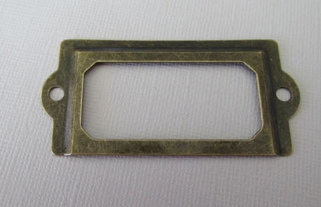 Brass Label Holder