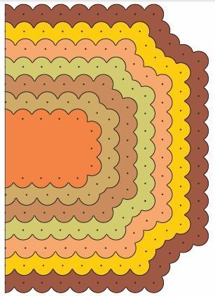 Reflections - Scalloped Coved Rectangle Mega Doily