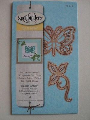 Spellbinders Die D-Lites Brilliant Butterfly