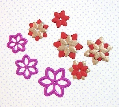 6 Petal Pointed Flower die set