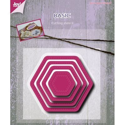Mery's Nested Stitched Hexagonal die set