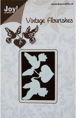 Vintage Flourishes - Doves & Heart die