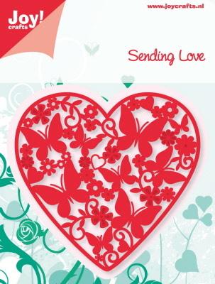 Sending Love - Heart Filled With Butterflies die