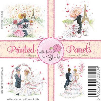 Wild Rose Studio Romantic Printed Panels