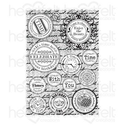 Time Sentiments Cling Stamp set