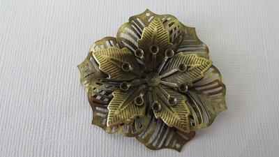 Antique Bronze Filigree Flower