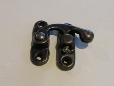 Metal Swing Latch Clasp - antique bronze look