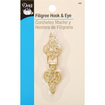 Dritz Hook & Eye Clasp - gold