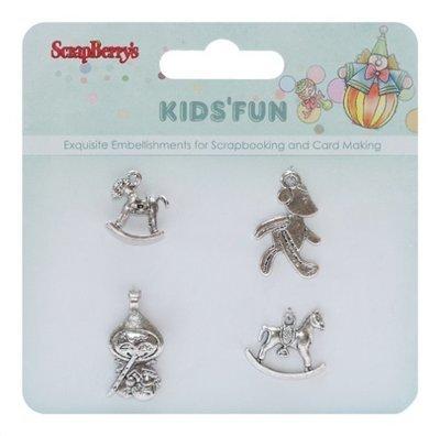 Kids Fun Charms - 4 pcs