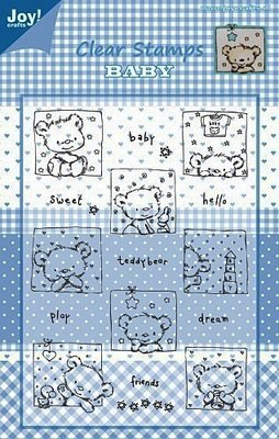 Baby Bear with Text Clear Stamps
