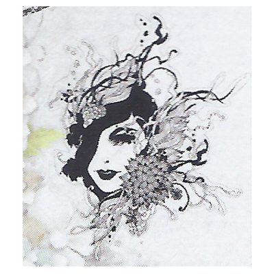 Lady With Elegant Flowers Clear Stamp