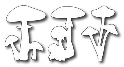 Mushroom Trio (set of 3 dies)