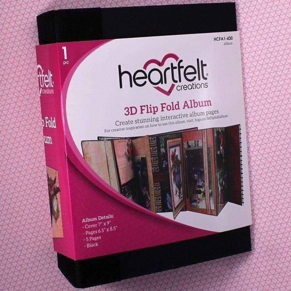3D Flip Fold Album - Black