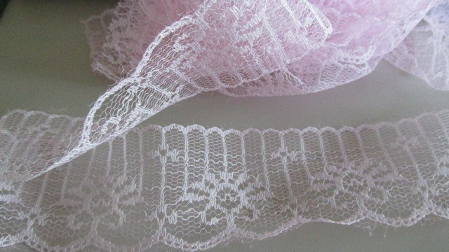 Pink Scallop Lace