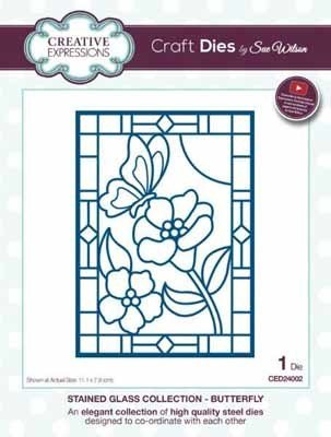 Creative Expressions Stained Glass Collection - Butterfly