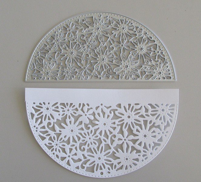 Semi Circle Flower Frame die