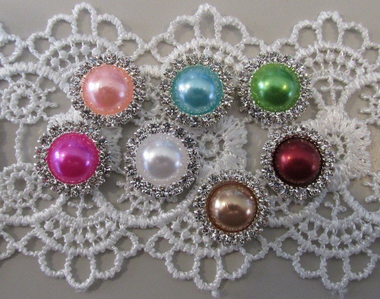 Flatback Pearls with Rhinestones - Click to Select