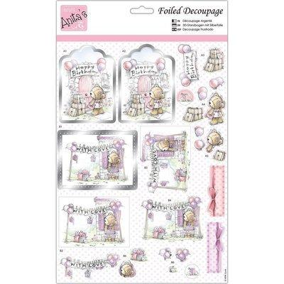 Anita's A4 Foiled Decoupage Sheet - Birthday Surprise