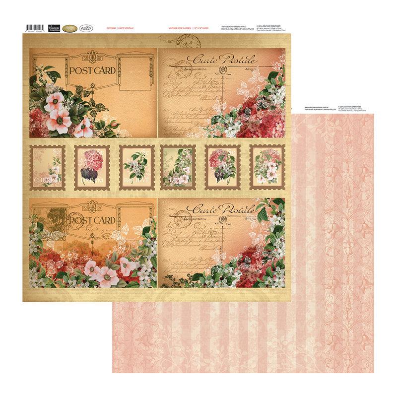Vintage Rose Garden - Carte Postale
