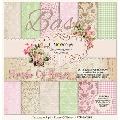 House of Roses 12X12 Basic Paper Stack