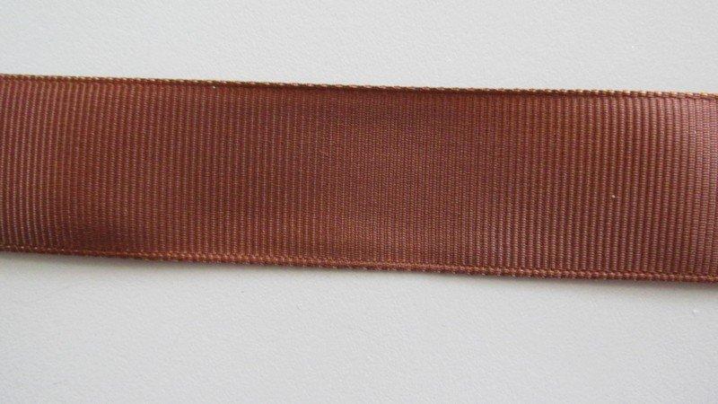 Choc Grosgrain Ribbon 25mm