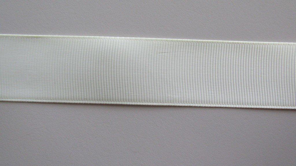Rich Cream Grosgrain Ribbon 25mm