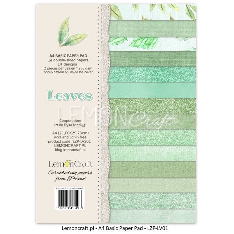 A4 Basic Paper Pad - Leaves 01