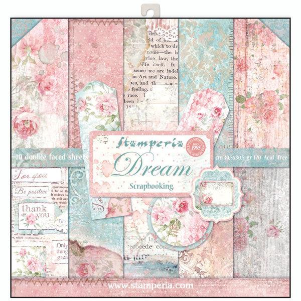 STAMPERIA DREAM 12x12 Paper Set