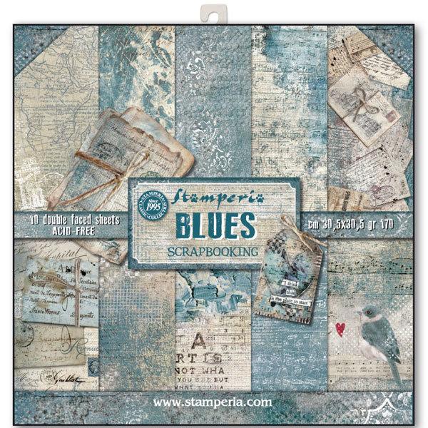 STAMPERIA BLUES 12x12 Paper Set