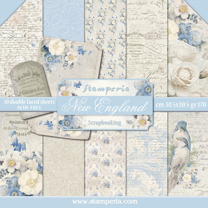 STAMPERIA NEW ENGLAND 12x12 Paper Set