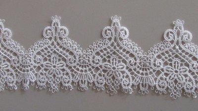 Delicate Wavey Lace - White