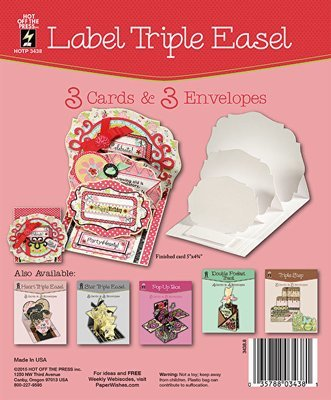 Label Triple Easel Card Set