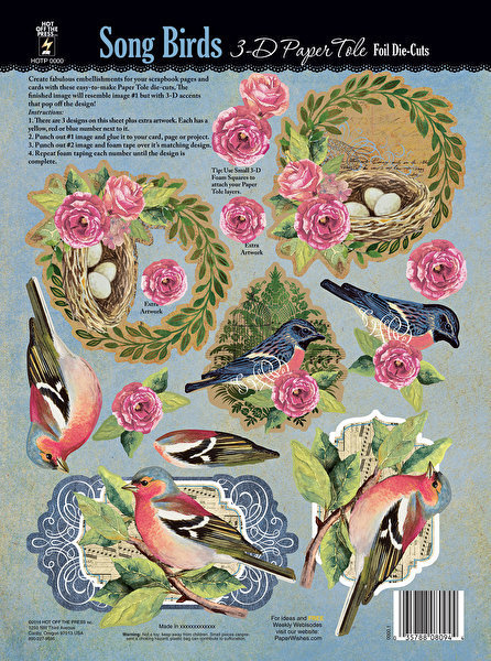 'SONGBIRDS' Papier Tole