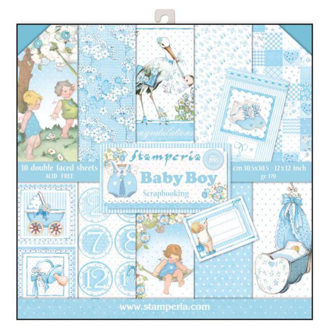 STAMPERIA BABY BOY 12x12 Paper Set
