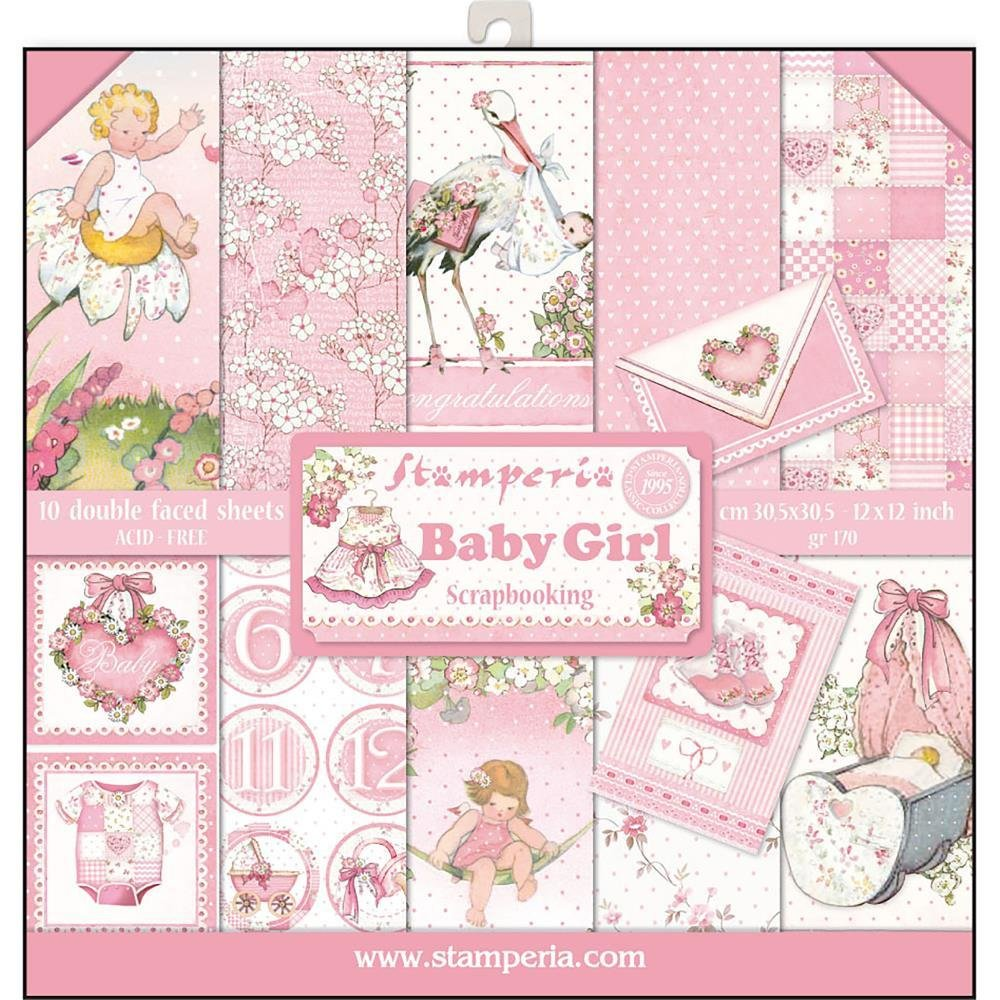 STAMPERIA BABY GIRL 12x12 Paper Set