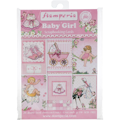 BABY GIRL SCRAPBOOKING CARDS