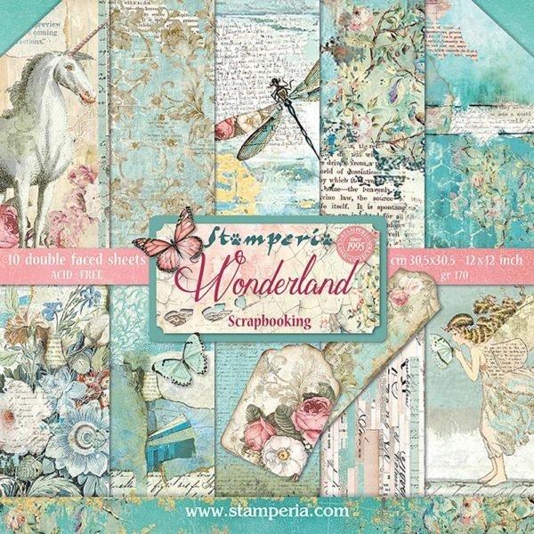 STAMPERIA WONDERLAND 12x12 Paper Set