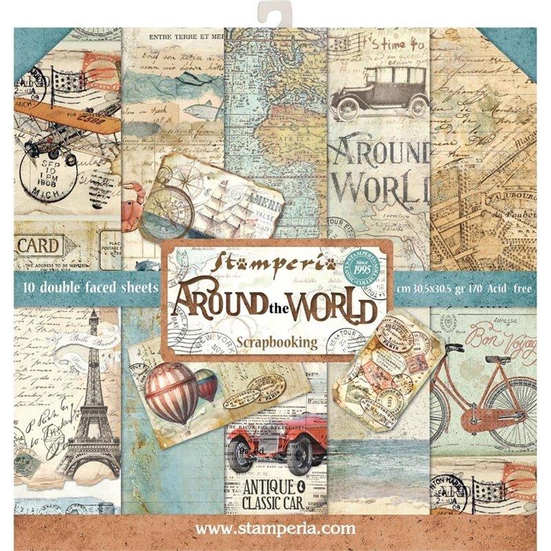 STAMPERIA AROUND THE WORLD 12x12 Paper Set