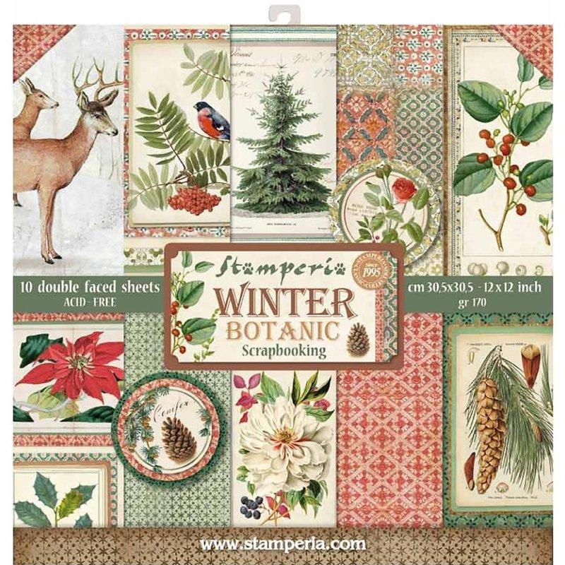 WINTER BOTANICAL 12x12 Paper Set