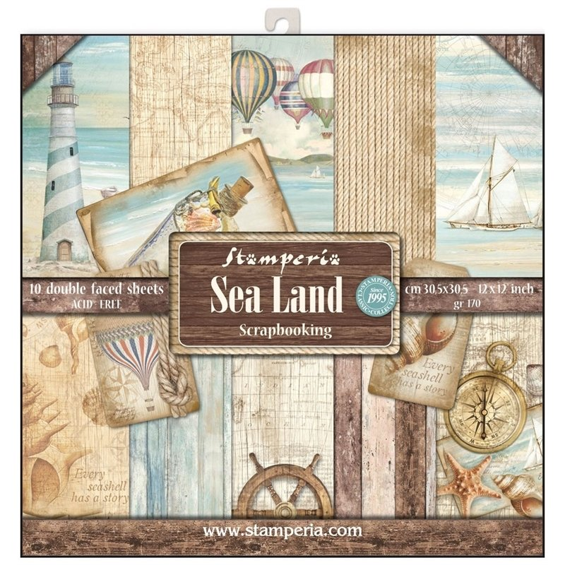STAMPERIA SEA LAND 12x12 Paper Set