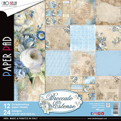 Ciao Bella BROCATTO ESTENSE 12x12 Paper Pad (12 pack)